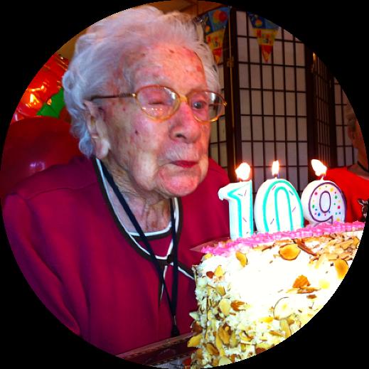 elderly woman on her 109th birthday